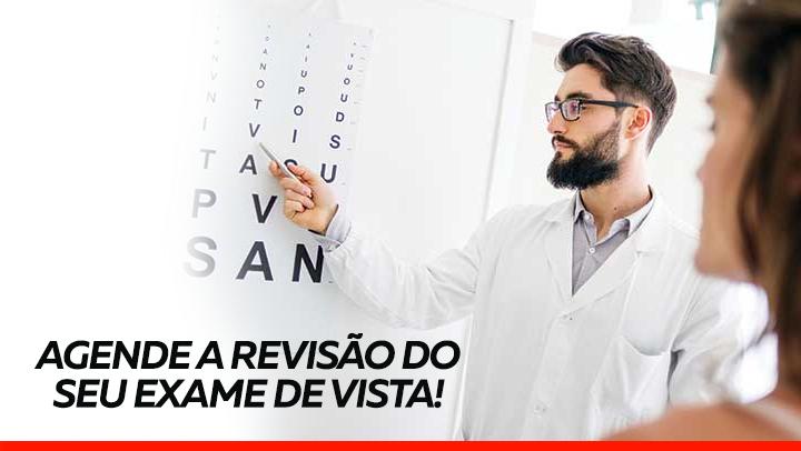 Revisão de óculos e exame oftalmológico